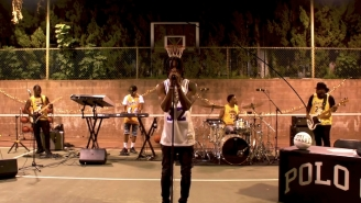 Polo G Plays His Tiny Desk Concert On An Outdoor Basketball Court