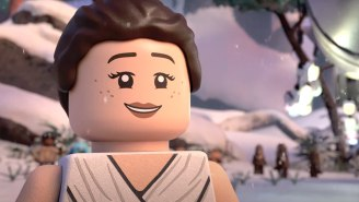 The 'LEGO Star Wars Holiday Special' Trailer Has Porgs, Baby Yoda, And Shirtless Adam Driver In LEGO Form