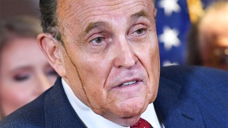 Rudy Giuliani's Hair Dye Started Running Down His Face Mid-Press Conference, And The Internet Had Jokes About His Literal Meltdown