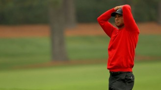 Tiger Woods Hit Three Balls In The Water To Make A 10 On The 12th Hole On Sunday At The Masters