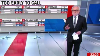 Election Night Is Still Young, And CNN's John King Can Barely Contain His Frustration With The Excitable Wolf Blitzer