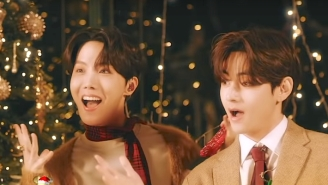 BTS Get Festive In Their Cozy 'Santa Claus Is Coming To Town' Singalong