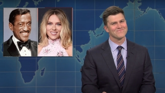 Colin Jost Got Uncomfortable When He Was Forced To Tell A Scarlett Johansson Joke On 'SNL' Weekend Update