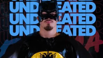 A Boxer Dressed Like Batman And Walked To The Ring To 'I Want It That Way' Then Won Via TKO