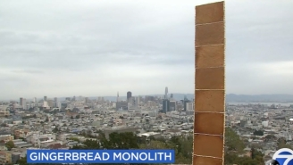 Yet Another Monolith Was Found In San Francisco On Christmas Day, This One Made Of Gingerbread