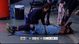 Ja Morant Was Taken Off The Floor In A Wheelchair After Suffering An Apparent Left Ankle Injury