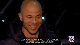 A Boston TV Station Unwittingly Interviewed NHL Legend Jarome Iginla About A Snowstorm