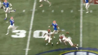 College Football's Hit Of The Year Came Via Alabama Receiver John Metchie
