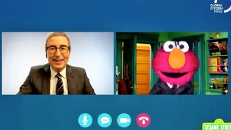 John Oliver And His Twin, Elmo, Teamed Up For A Very Heartwarming Global Message