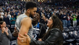 Karl-Anthony Towns Dedicated The Game Ball To His Late Mother After The Wolves Opening Night Win