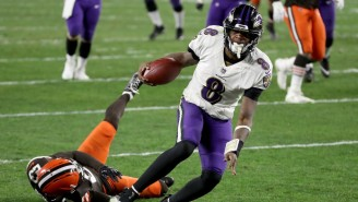 After Leaving With 'Cramps,' Lamar Jackson Returned Just In Time To Beat The Browns