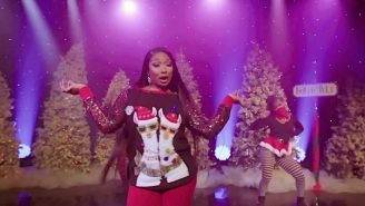 Santa Is A Savage In Megan Thee Stallion's New Remix With James Corden