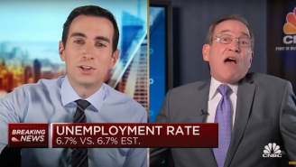 CNBC's Rick Santelli And Andrew Ross Sorkin Went Full WWE Over COVID Restrictions This Morning