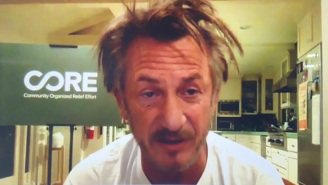 Sean Penn Rolled Out Of Bed To Hop Into An MSNBC Interview, And Was A Total 2020 Mood