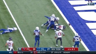 The Texans Lost To The Colts By Fumbling The Ball Into The End Zone Trying For The Tying Score