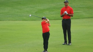 Tiger Woods' Son Charlie Stole The Show At The PNC Championship