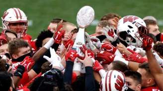 Wisconsin Shattered The Duke's Mayo Bowl Trophy While Dancing In The Locker Room