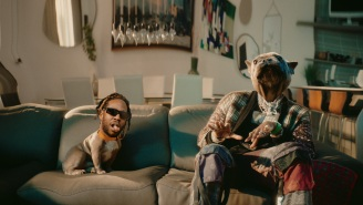 2 Chainz And His Dog Trappy Switch Heads In The Surreal 'Grey Area' Video