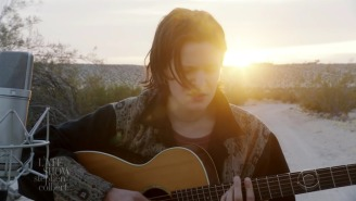 Adrianne Lenker Takes To The Desert To Perform 'Anything' For 'The Late Show'