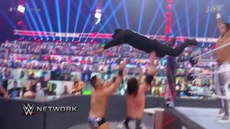 Bad Bunny Took Out The Miz From The Top Rope At The Royal Rumble