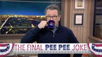 Stephen Colbert Couldn't Resist Making One Final 'Pee Tape' Joke About Trump