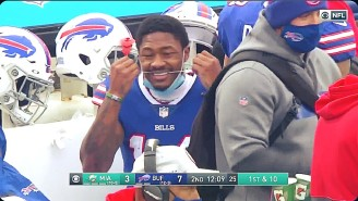 Stefon Diggs Is The NFL's Leader In Receiving And Dental Hygiene