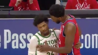 Joel Embiid And Marcus Smart Had A Lovely Conversation After An Unsuccessful Smart Flop