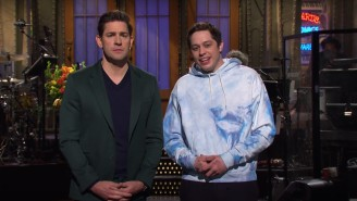 John Krasinski Couldn't Escape Being Jim From 'The Office' During His 'SNL' Monologue
