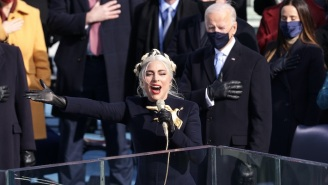 Lady Gaga Was All Smiles Singing The National Anthem At Joe Biden's Inauguration