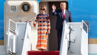 Melania Trump's Outfit Change And Refusal To Pose For Photos After Exiting Air Force One For The Last Time Show She Has No F*#ks Left To Give