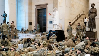 National Guardsmen Protecting The Capitol Are Being Forced To Sleep In Parking Lots And People Are Outraged