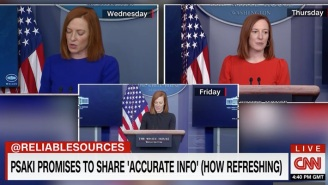 Conservatives Are Big Mad Over A CNN Chryon That Applauds Biden Press Secretary Jen Psaki's Pledge To Not Lie To The American People