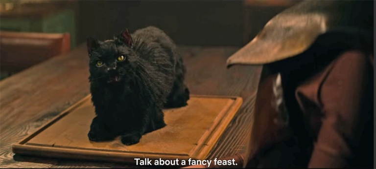 """The Talking Cat in """"The Chilling Adventures of Sabrina"""""""