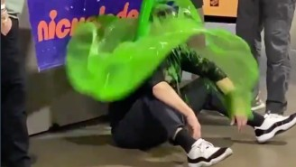 Sean Payton Got Slimed In Jordans After Beating The Bears On Nickelodeon
