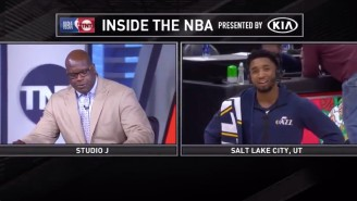 Shaq And Donovan Mitchell Had An Incredibly Awkward Postgame Interview