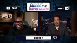 Shaq Did A Cardi B Impression On 'The Tonight Show' And It Wasn't Awesome