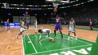 Marcus Smart Left Lakers-Celtics With A Left Calf Strain