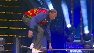 Snoop Dogg Did An Awkward 'Snoop Splash' Off The Top Rope On All Elite Wrestling