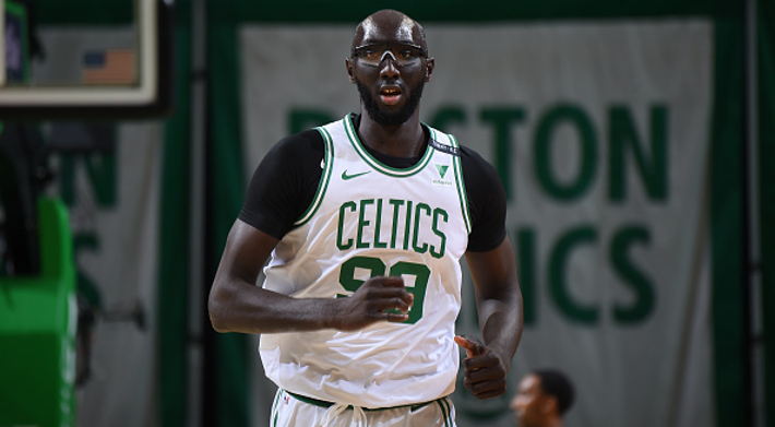 Tacko Fall Banked In A Long Two And Boston's Bench Went Ballistic