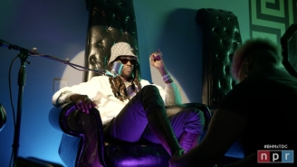 2 Chainz Gets A Pedicure While Performing His Hit-Filled Tiny Desk Concert