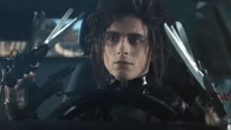 Timothée Chalamet Plays The Son Of Edward Scissorhands In A New Super Bowl Car Commercial