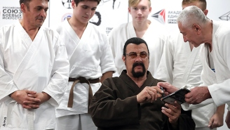 Tank Expert Steven Seagal Is Now The Official Spokesperson For A UAE-Made Armored Truck