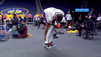 Anthony Davis Left Lakers-Nuggets After Aggravating His Achilles Injury (UPDATE)