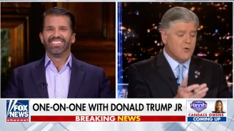 Don Jr. Had Something He Was Itching To Say But Sean Hannity Out-Blowharded Him And Then Ended The Interview Before He Could Say It