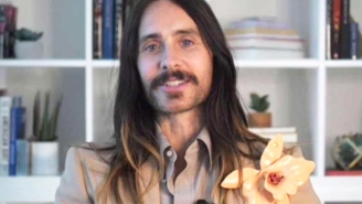 Jared Leto's Golden Globes Outfit Is Bringing More Excitement Than The Rest Of The Broadcast Combined