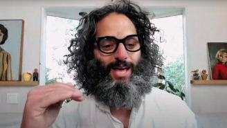 Seth Meyers Couldn't Handle The Mask That Jason Mantzoukas Uses To Contain His Massive Quarantine Beard