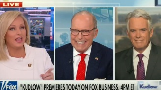Fox Business' Larry Kudlow Got Caught On A Hot Mic Cursing Repeatedly About Kamala Harris
