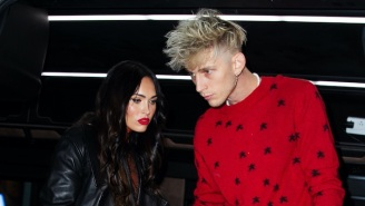It Seems Machine Gun Kelly Wears A Necklace Made With Megan Fox's Blood