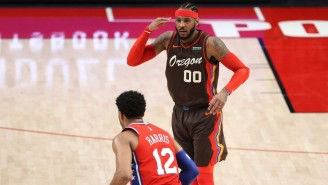 Carmelo Anthony Caught Fire In The 4th Quarter To Lead Portland To A Win Over The Sixers