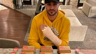 Larry Nance Jr. Made It To Almost 100 Chicken Nuggets In The #MeVsNuggets Challenge Before Tapping Out